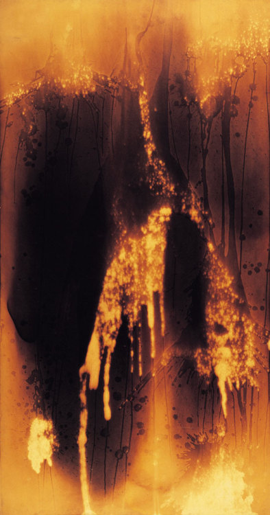 nirvikalpa:  Yves Klein, Untitled Fire Painting (F 27 I), 1961