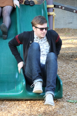 adamusprime:  this pic looks like im getting off the slide to go fight someone