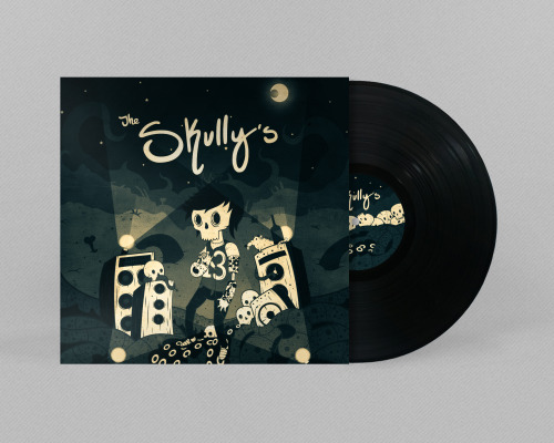 The Skully's Vinyl Disc and Cover, check out the rest of the project on Behance!