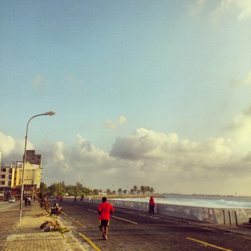 Friday mornings  #calm #Friday #mornings #Maldives #morning #sky #clouds #run #street