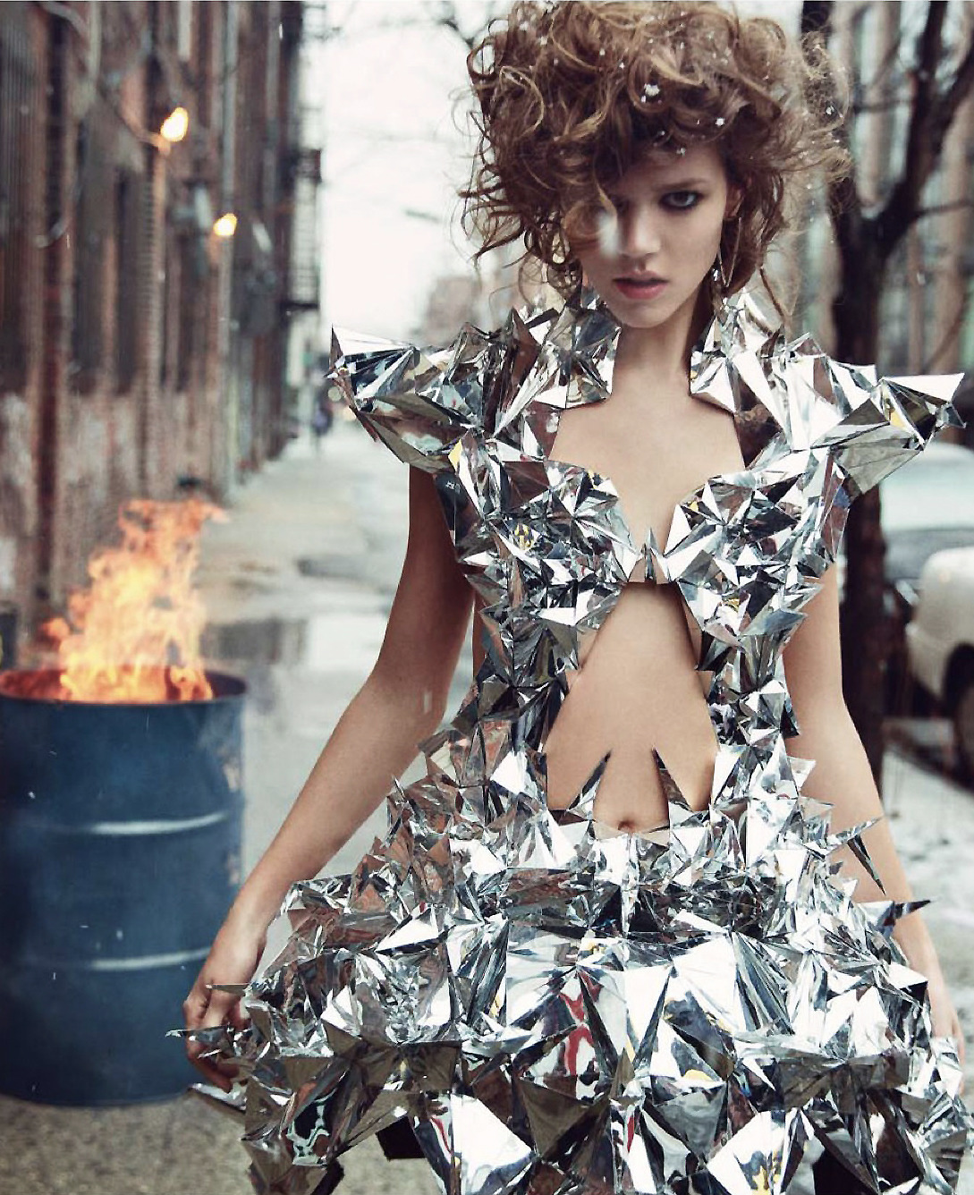 sympurple:  swanknificent:  romanticnaturalism:  Freja Beha Erichsen wears Iris Van Herpen Haute Couture in 'Couture' photographed by Inez & Vinoodh for Vogue Paris May 2013  I love your work Iris.  😍