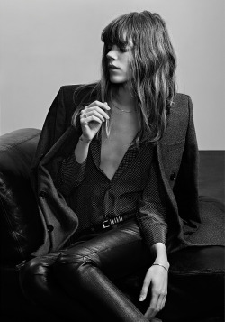 fashionfaves:  Freja Beha Erichsen by Hedi Slimane Saint Laurent pre-fall 2013