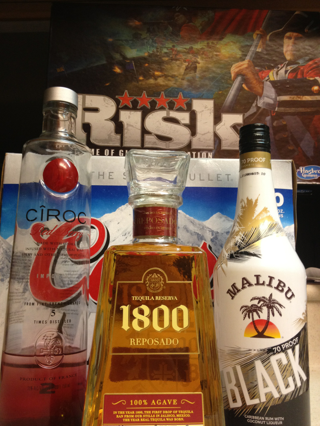 echoesofeverything:  nonameeverpleasenoname:  My Friday Night!  Risk + Alcohol, I'm sure we'll figure somethingg out  doing it right  Play responsibly
