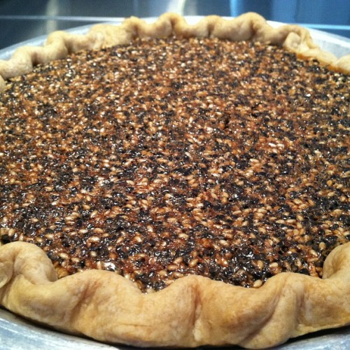 Black and White #Sesame #Pie @ivybakery #new #creation #recipe #bakery #baked #nyc #sweets #test #desserts #pielover  (at Ivy Bakery)
