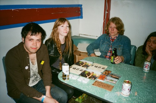 C. M. Ruiz, the artist behind the Seattle music scene, me and Ty Segall before the Fuzz show.