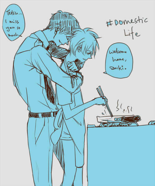 andreaphobia:  dee-niji:  prompt: OTP + domestic life I chose AoKuro!  i choose you aokuro