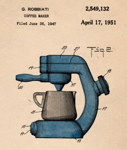 teachingaway:  Espresso Machine Patent, 1951