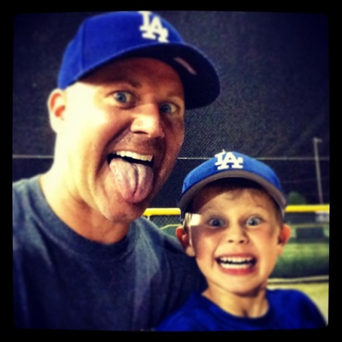 Like father, like son!! Love him to pieces :-)) (at Pearland Area Dads Club)
