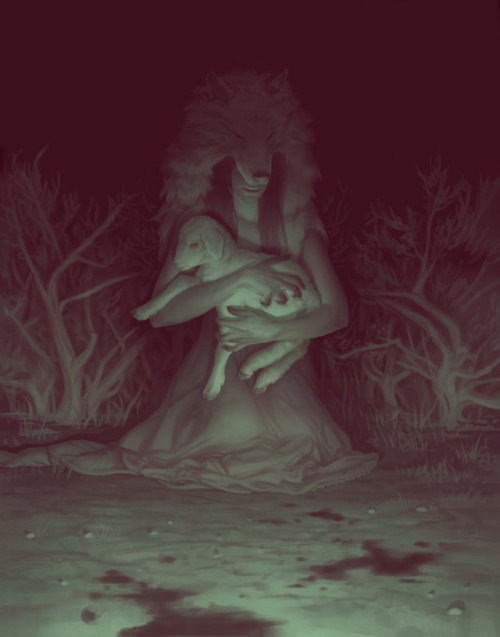 Spectrum Spectrum25 illustration octopus wolf dark art