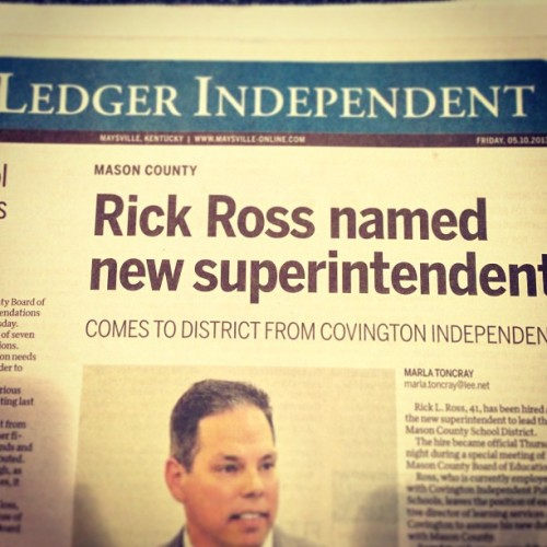 Mason County finally got the superintendent they deserve. #RickRoss #Hustlin