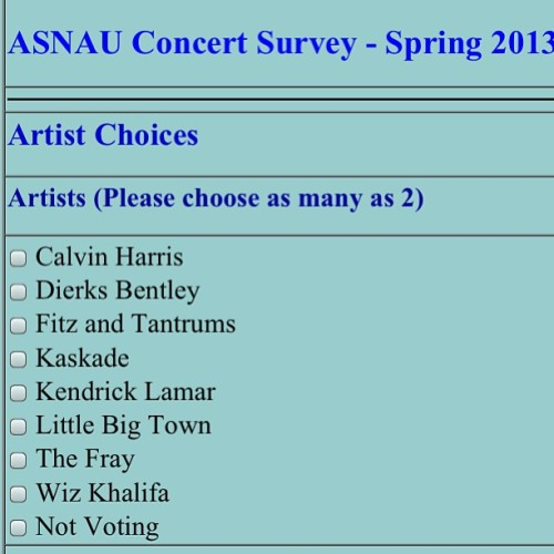 Really hope #NAU votes for Kendrick Lamar #yabish