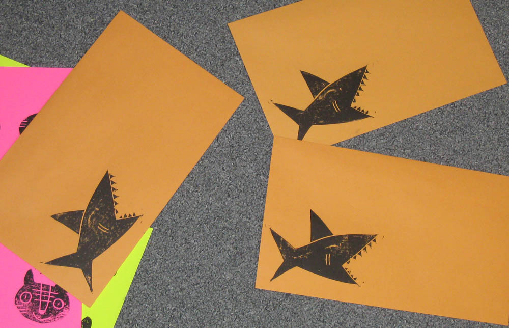 Shark envelopes!