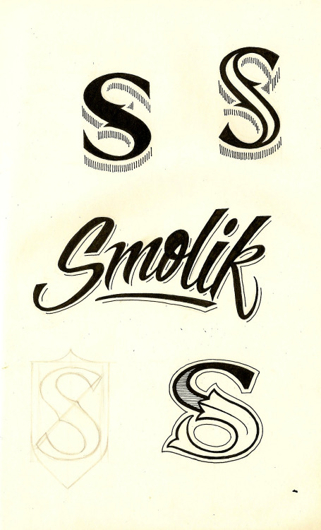 Couple hand drawn logo ideas.