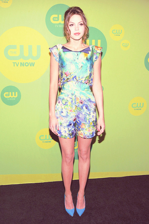 Aimme Teegarden at the CW Upfront Event in New York, May 16, 2013