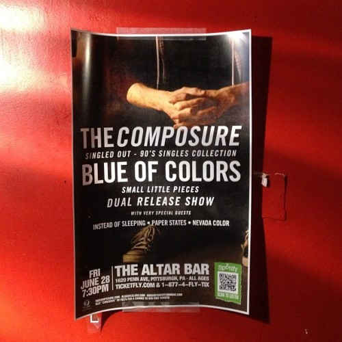 "Blue of Colors ""Small Little Pieces"" album release show. June 28th at Altar Bar. It's time!!"