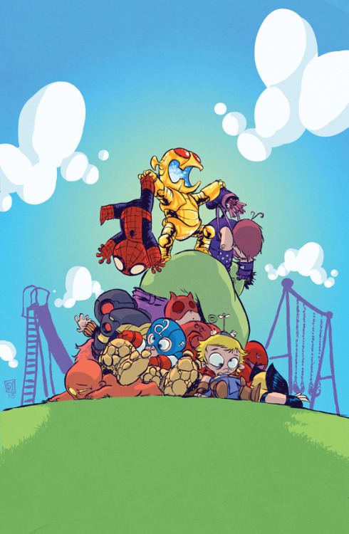 Skottie Young's Age of Ultron #1 variant brings me much joy. I mean, everything Skottie does makes me happy, but still… Age of Ultron #1 is on sale March 6, 2013!