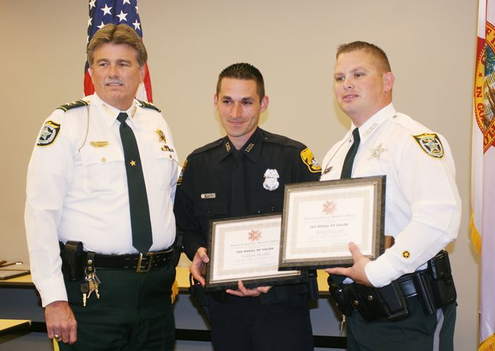 "anarcho-queer:  Officers Receives Medal of Valor For Killing Mentally Ill Naked Women In late October, an off-duty Tampa police officer and an off-duty Hernando County sheriff's detective were involved in the fatal shooting of a naked 42-year-old woman. Two months later, the State Attorney's Office concluded that Officer William Mechler and Detective Rocky Howard were justified in their actions. On Wednesday, the two law enforcement officers received the highest honor given by the Hernando Sheriff's Office — the Medal of Valor. In a letter recommending the two officers for the honor, sheriff's Lt. Harold Hutchinson Jr. praised the two men. ""They placed their own safety at risk and responded to the incident in a brave and admirable manner to ensure the safety of those around them,"" the letter read. But the recognition wasn't well received by the brother of Inga Marie Swanson, the victim in the shooting. ""They shot a mentally disturbed, naked woman — is that valor? Is that the definition of valor?"" asked Gunnar Swanson. ""To me, it's like they are celebrating a kill."" Officers shot and killed Inga after mistaking her crucifix for a weapon."