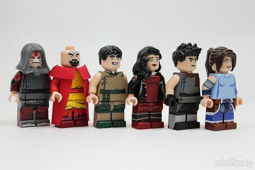 Don't you wish you had these custom #TheLegendOfKorra #Lego Figures?  Source: http://www.customminifig.co.uk/the-legend-of-korra-custom-minifigures/