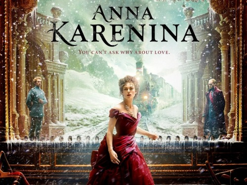 Anna Karenina. As much as I wanted to love this movie, I couldn't.