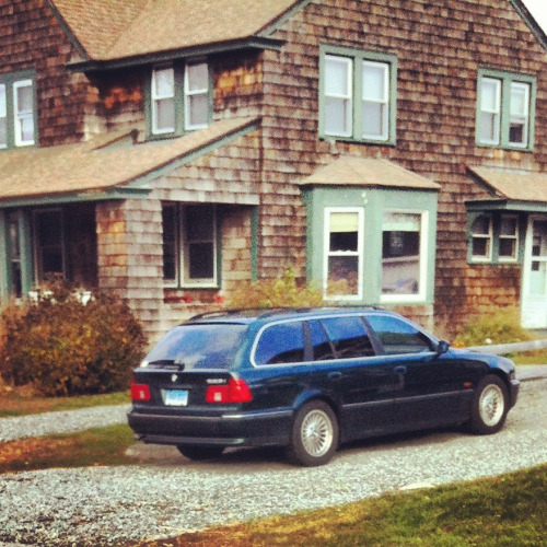 Dream car: forest green 90s BMW station wagon. (I'll take the shingle-style house, too.)