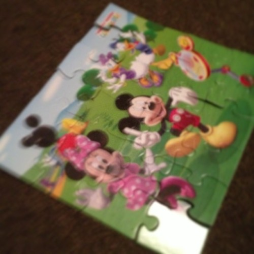 Makayla just did a puzzle all by herself!!!!