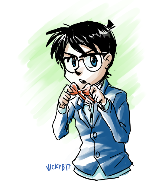 That Kid Detective, Conan! Just a quick sketch I did while listening to the soundtrack of the 12th Conan movie, hooray