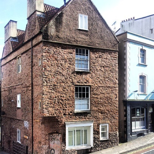 Lodge Place, Park Row. Medieval House, discovered during restoration. #Bristol