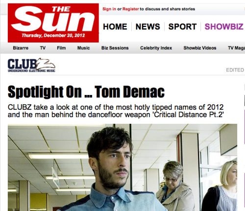 THE SUN - Feature..  Need I say more, life is complete! From days staring at tits and believing outlandish headlines as a pre-pubescent teen to growing older and appreciating the irony this tabloid giant has brought to my days.. I find myself featured on their website. A very big day indeed! Click here to read the not to distant truth