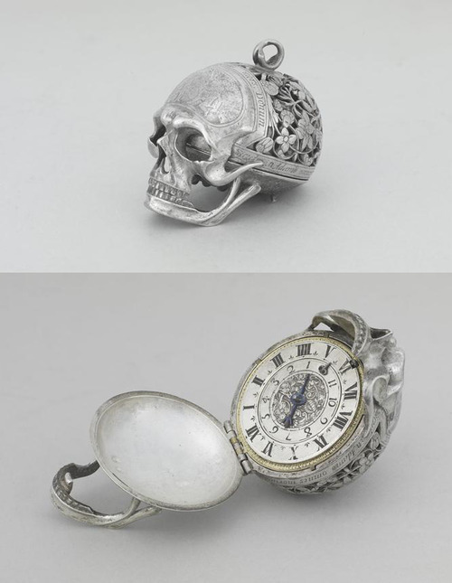 discothing:  Jean Rousseau, Skull watch, 17th century.