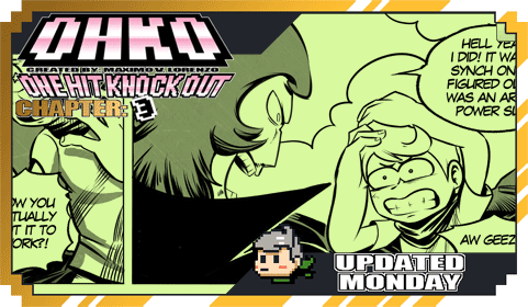 OHKO UPDATES TODAY!New changes to the comic include simpler tones and thicker line work!