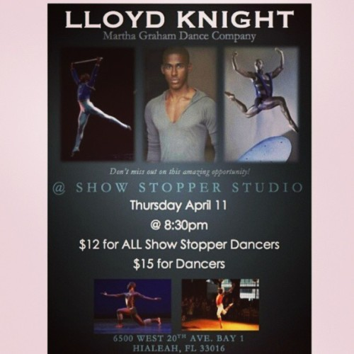 Happening tonight. You won't want to miss this amazing class @showstopperstudio
