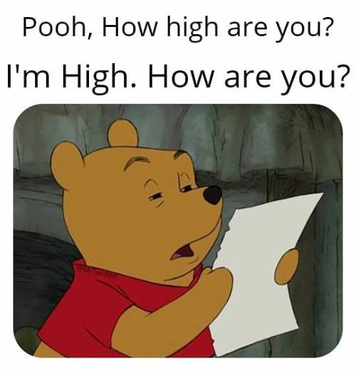 A Pooh moment. High. How are you? 😊   FOLLOW @MjTwisted    . . . . . . . . . .  #mjtwisted #pooh #moment #high #howareyou #follow #cannabis #thc #marijuana #cbdoil #sativa #indica #cbd #hemp #mmj #medicalmarijuana #instaweed #weedporn #weed #weedmemes #cannabismemes #cannabisoil #mj2funny #green #cbdoil #weedmeme #cannabismeme #hempoil #hempcbd #420  https://www.instagram.com/p/BzHtq7XBgwR/?igshid=1r2gykl4z88bl #mjtwisted#pooh#moment#high#howareyou#follow#cannabis#thc#marijuana#cbdoil#sativa#indica#cbd#hemp#mmj#medicalmarijuana#instaweed#weedporn#weed#weedmemes#cannabismemes#cannabisoil#mj2funny#green#weedmeme#cannabismeme#hempoil#hempcbd#420