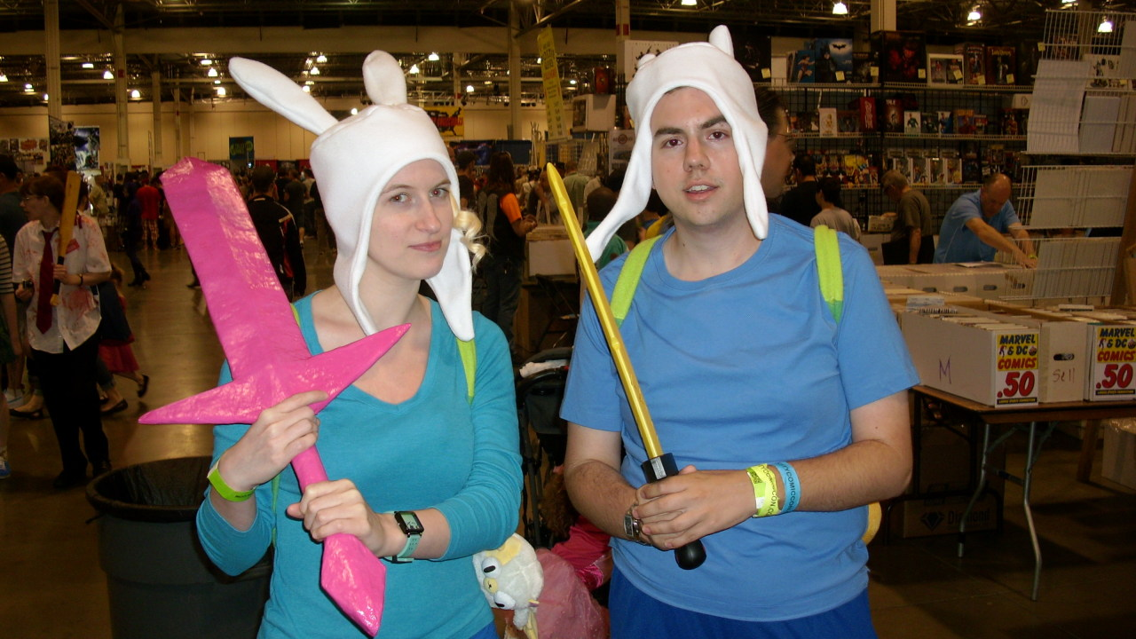 Me and one of my bests dressed as Finn and Fionna today. It was algebraic! So much fun today! I wish he would have been into the pictures a bit more, but I had a blast!