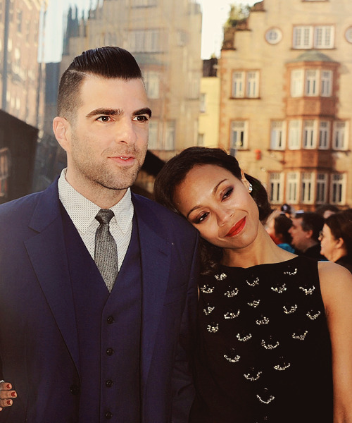 "Zachary Quinto & Zoë Saldaña at the ""Star Trek Into Darkness"" London première (May 3rd, 2013)"