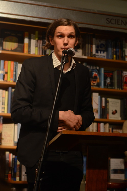 tysegall:  Nikolai Fraiture (of the Strokes) at McNally Jackson, 4.14.13