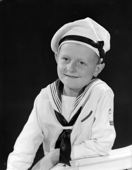""" Sailor Boy Bobby ""  …..  Portrait [1944] by Photographer:  Donn B. A. Williams, Vancouver"