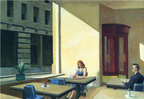 "Edward Hopper ""Sunlights in Cafeteria"""
