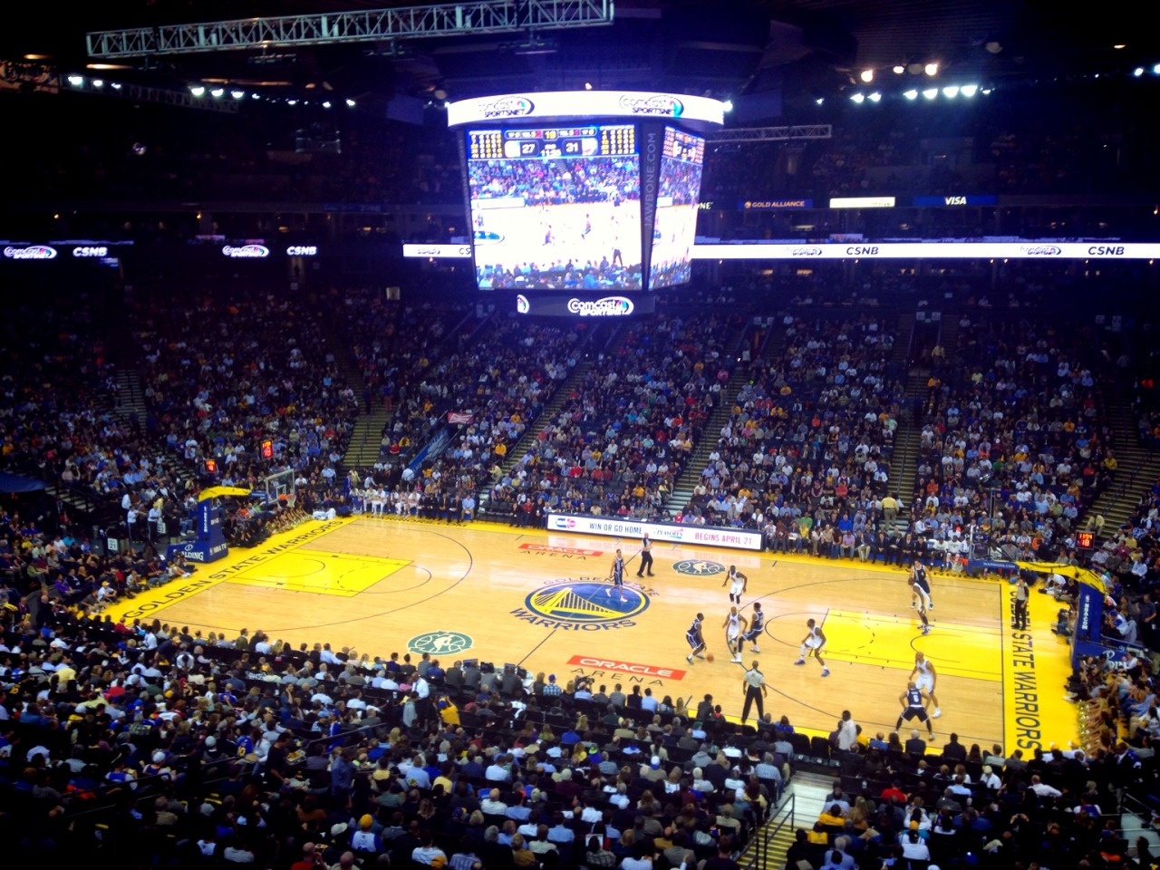 Ending the day with some @Warriors! at Oracle Arena – View on Path.