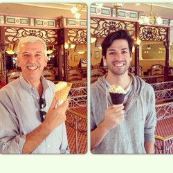 Like father like son at Disneyland!