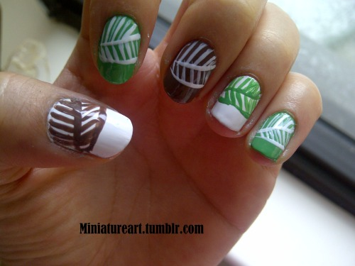 Spring pattern nails version # 2!