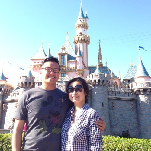The most magical place on earth, accompanied by my beautiful princess!  (at Sleeping Beauty Castle)