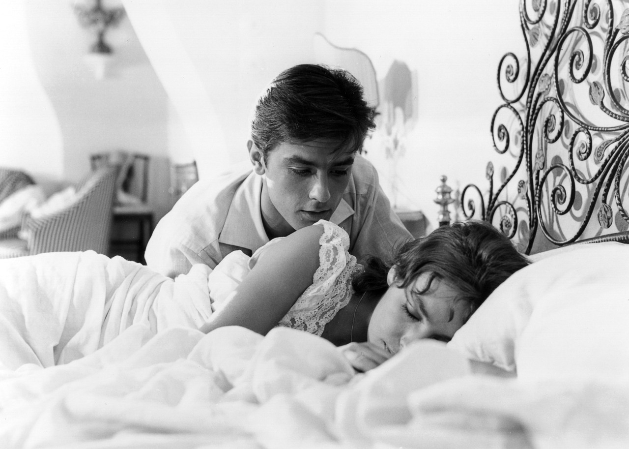 Purple Noon. Alain Delon and Marie Laforet, 1960.
