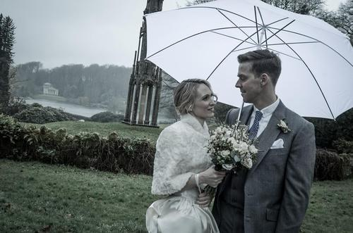Another dapper customer on their wedding day wearing Cad & The Dandy