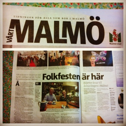 #swedishhospitality in the local #malmo paper report from the #city before the #esc ! Welcome to Malmö and #sweden