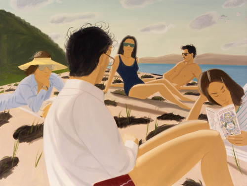 Alex Katz, Round Hill 1977 Current exhbition of works at Turner Contemporary, Margate (Alex Katz: Give Me Tomorrow, 6 October 2012 - 13 January 2013).  Bold paintings combining pop art forms, flatness of the canvas, bright, block and saturdated colours