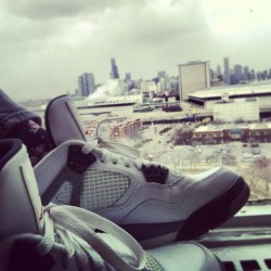 Morning Ritual. #cityview #chicago #photography #sneakers #instagram #skyline