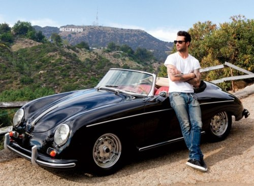 vanityfair:  Hot Tracks | Adam Levine with his 1958 Porsche Speedster Photograph by Roger Davies  hALP