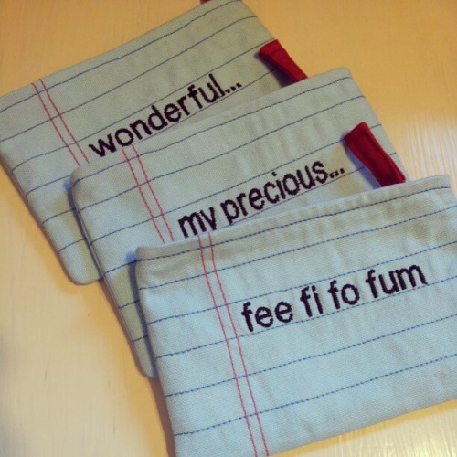 Larger Sized #Notebook #Zip #Pouch v2013 #blue #words #samsunggalaxynote #FeeFiFoFum #precious #wonderful #handmade #machineembroidery #littleoddforest #singapore #craft #design #lifestyle #whimsical #quirky #kooky