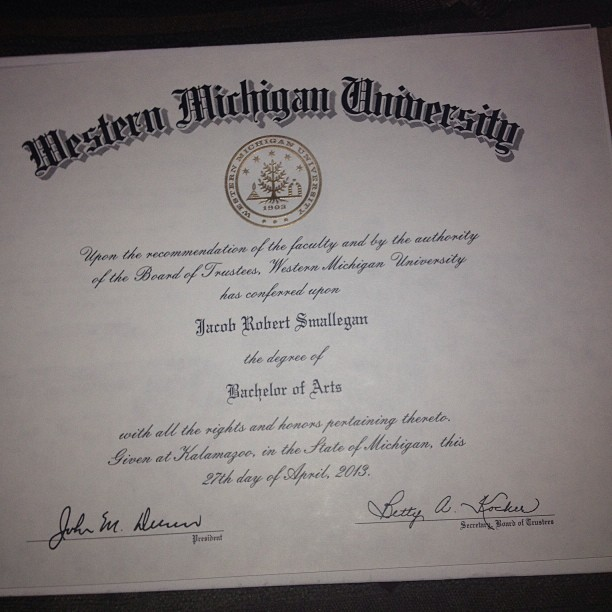 IT IS HERE!!!! #graduated #wmu #broncoalum