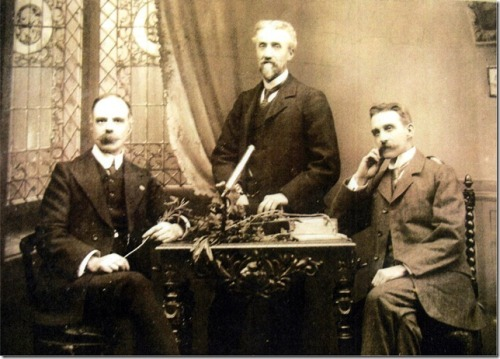 We were recently sent this image from a local historian which shows the three original founders of the MYB Mill: Morton, Young and Borland. The photograph is thought to have been taken to coincide with the opening of the mill in 1901!